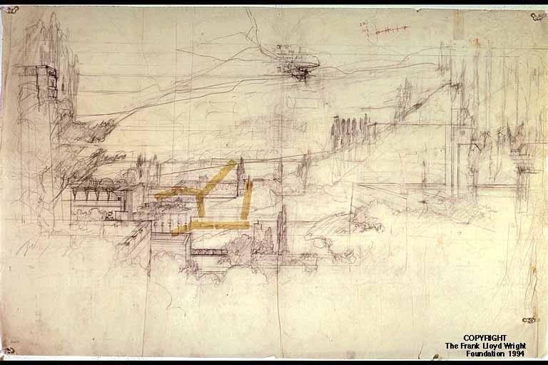 Doheny Ranch Development – Frank Lloyd Wright: Designs For An Pertaining To Frank Lloyd Wright Wall Art (Image 8 of 20)