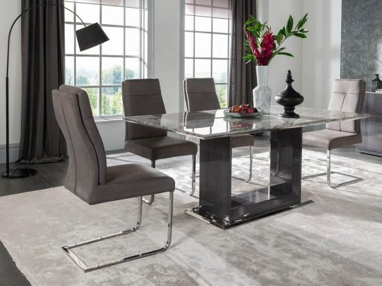 Donatella Raphael 180Cm Grey Marble Dining Table Dta 180 | Morale In Most Up To Date 180Cm Dining Tables (Image 11 of 20)