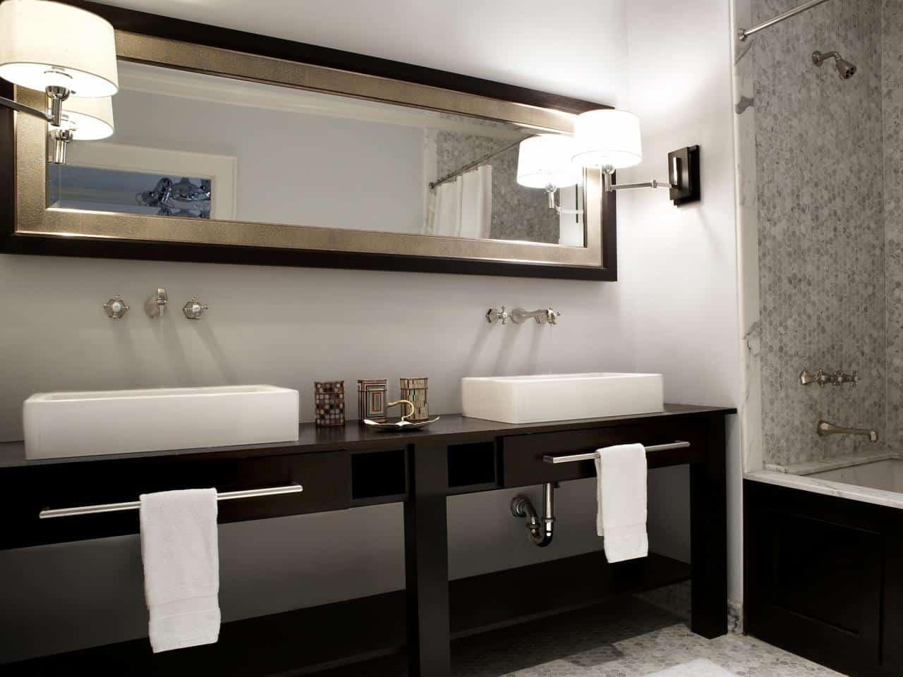 Double Vanity Bathroom Mirrors Home And Design Gallery Within How In Bathroom Mirrors Ideas With Vanity (Image 16 of 20)