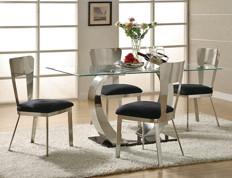 Download Modern Dining Room Table Sets | Gen4Congress Throughout Latest Contemporary Dining Room Tables And Chairs (Image 16 of 20)