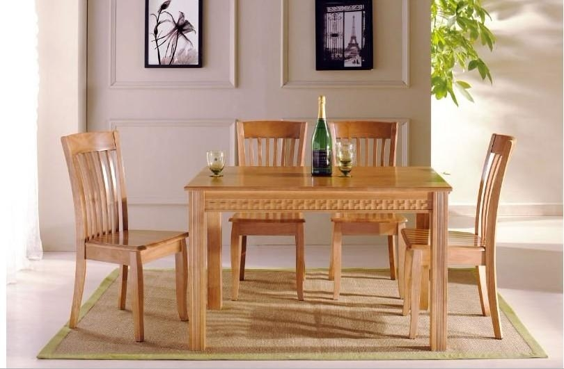 Download Simple Wood Dining Room Chairs | Gen4Congress Throughout Most Recent Wooden Dining Sets (Image 10 of 20)