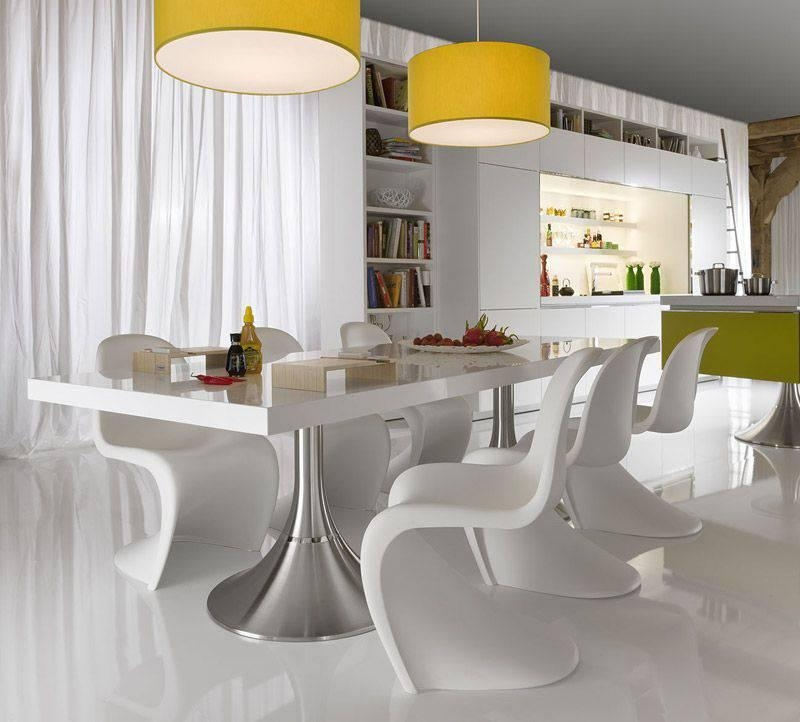 Download White Modern Dining Room Sets | Gen4Congress With Most Up To Date Shiny White Dining Tables (Photo 10 of 20)