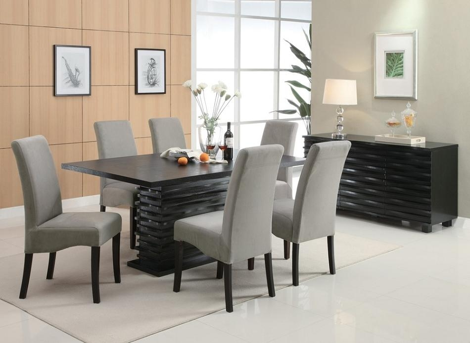 Dreamfurniture – 102061 Stanton Contemporary Dining Set Grey Throughout Contemporary Dining Sets (Image 15 of 20)