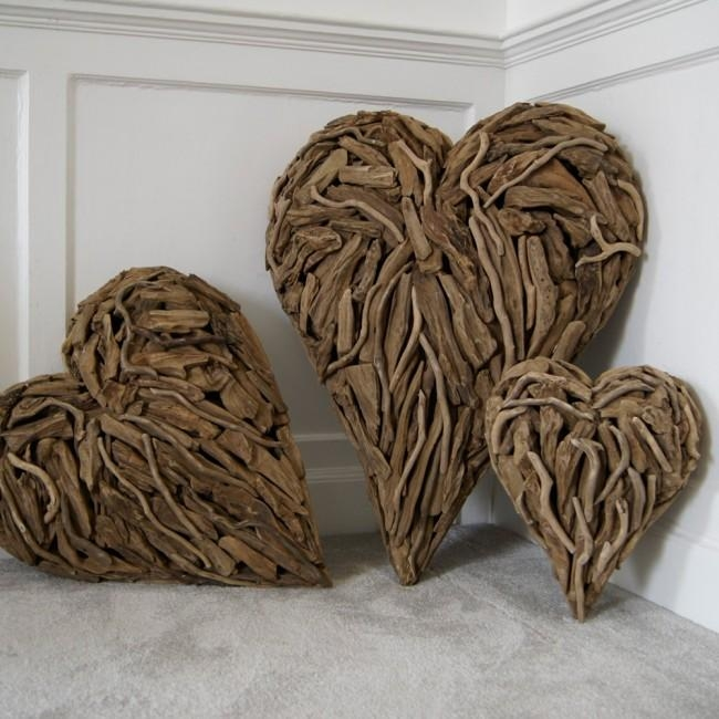 Driftwood Hearts Designedkaren Miller | Doris In Brixham Intended For Driftwood Heart Wall Art (Image 9 of 20)