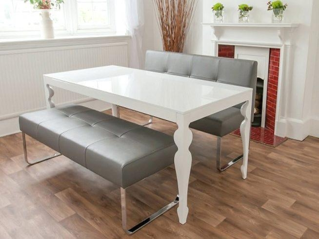 Dwell White Gloss Extendable Dining Table White High Gloss In Most Recently Released White Gloss Extendable Dining Tables (Image 6 of 20)