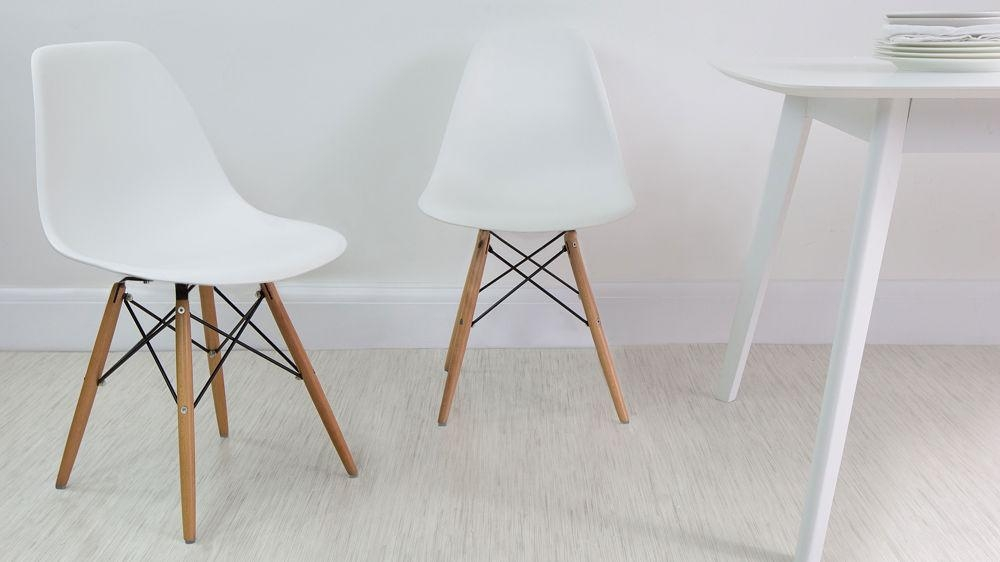Eames Dining Chair High Quality Uk Fast Delivery Within Recent White Dining Chairs (Photo 5 of 20)