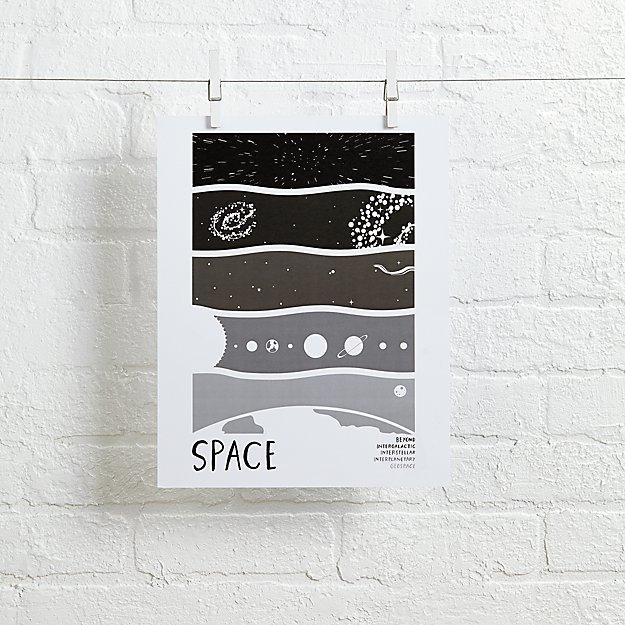 Earth Science Wall Art (Space) | The Land Of Nod Regarding Land Of Nod Wall Art (Image 8 of 20)