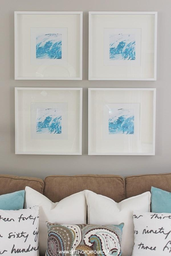 Easy Diy Watercolor Abstract Wall Art – Setting For Four With Regard To Diy Watercolor Wall Art (Photo 7 of 20)