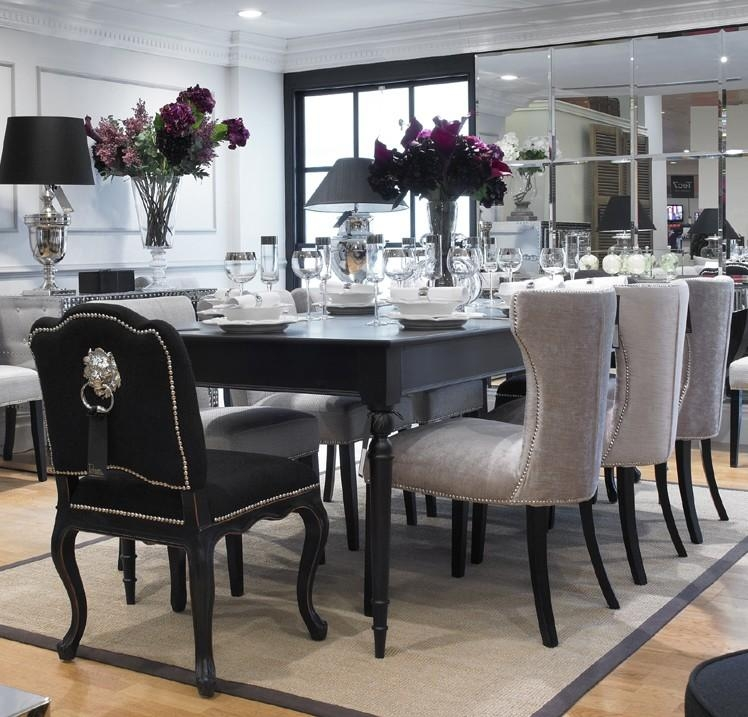 Eat Your Feast On Black Dining Table – Pickndecor Within Most Up To Date Black Dining Tables (Photo 8 of 20)
