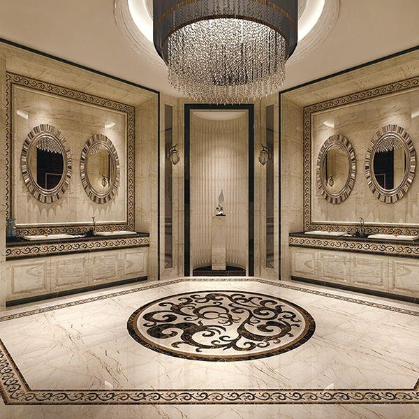 Egypt Building Material Italian Waterjet Marble Border Design From Intended For Italian Marble Wall Art (Image 5 of 20)