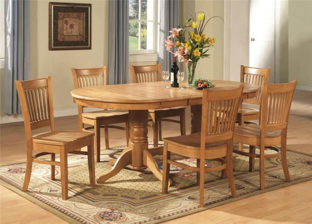 Elegant Dinette Table And Chairs Round Dining Room Set For 6 Home In Most Recently Released Solid Oak Dining Tables And 6 Chairs (Image 11 of 20)