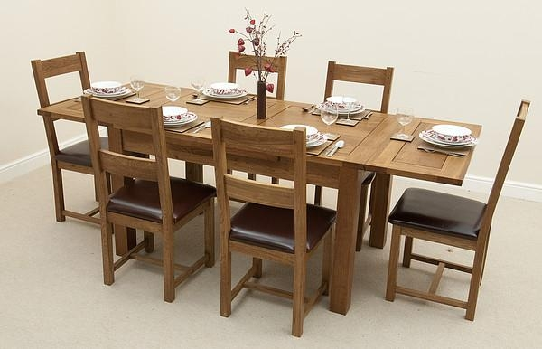 Elegant Furniture Village Dining Tables And Chairs And Extendable Throughout Oak Extending Dining Tables And 6 Chairs (View 7 of 20)