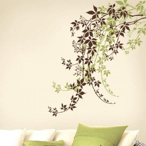 Elegant Vine Stencil For Easy Wall Decor (Image 7 of 20)