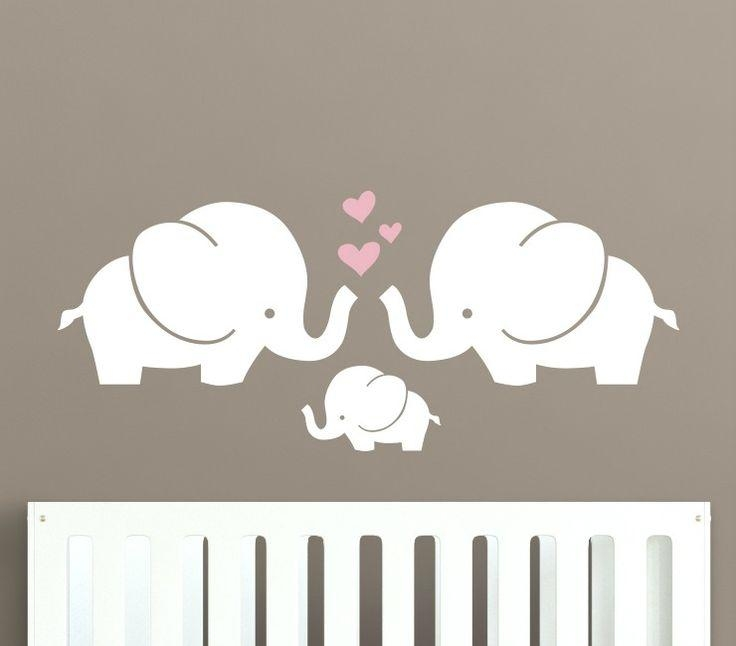 Elephant Nursery Wall Decor – Wall Art Design Pertaining To Elephant Wall Art For Nursery (Image 17 of 20)