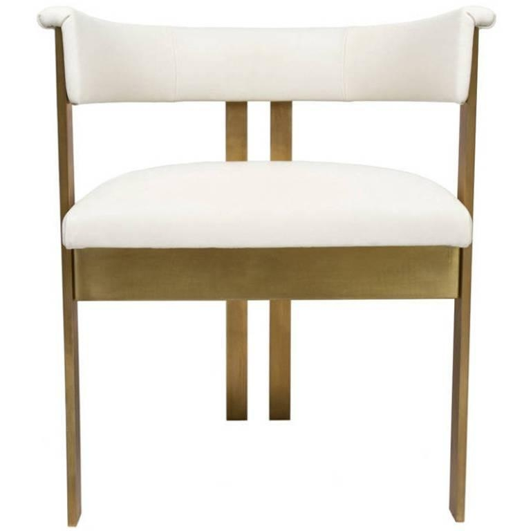 Elliott Dining Chairs In Ivory Leather For Sale At 1Stdibs With Most Up To Date Ivory Leather Dining Chairs (View 7 of 20)