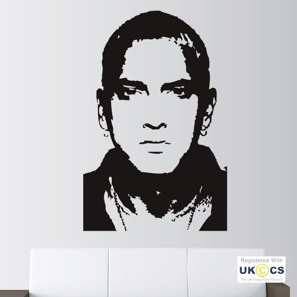 Eminem Music Rap Singer Wall Art Stickers Decals Vinyl Decor Room Intended For Eminem Wall Art (Image 10 of 20)