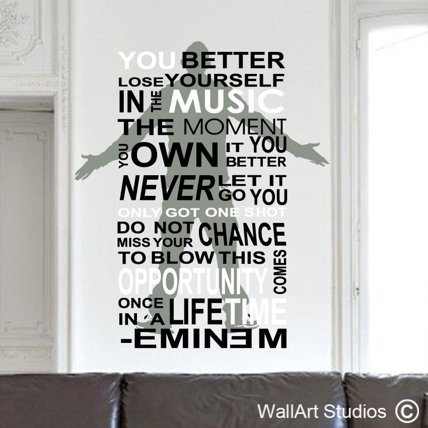 Eminem Wall Art Sticker | Wallart Studios With Regard To Eminem Wall Art (Image 12 of 20)