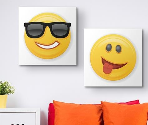 Emoji Art Prints – Canvas On Demand Intended For Emoji Wall Art (View 5 of 20)