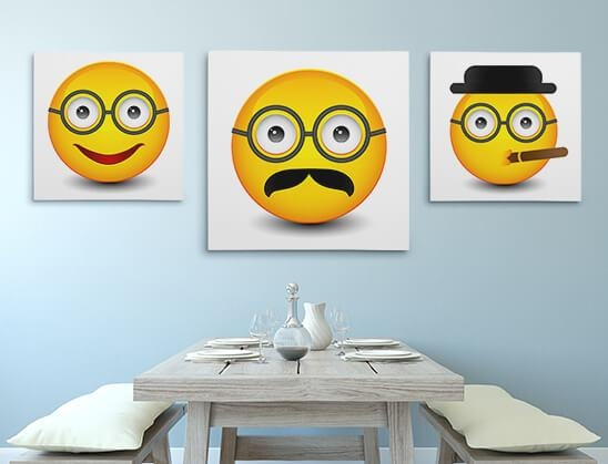 Emoji Canvas Prints – Emoji Wall Art Printscanvaschamp Pertaining To Emoji Wall Art (View 3 of 20)