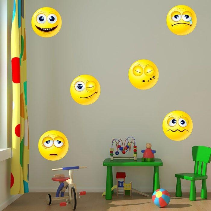 Emoji Wall Stickers | Emoji Wall Art Decalsloveabode For Emoji Wall Art (View 15 of 20)