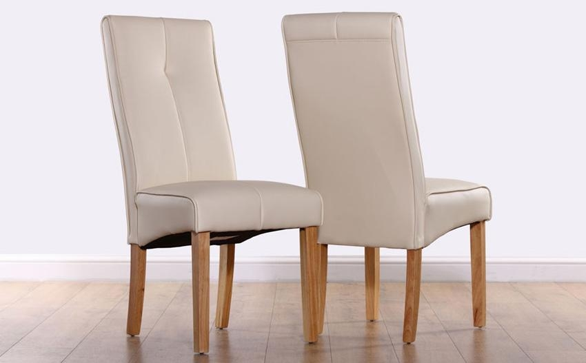 Enchanting Ivory Dining Chairs With Lowe Ivory Leather Dining Throughout Most Up To Date Ivory Leather Dining Chairs (View 4 of 20)