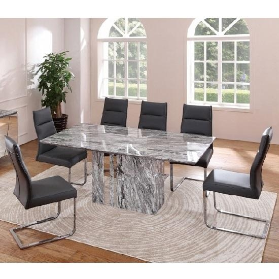 Enchanting Marble Effect Dining Table And Chairs 16 With Regarding Most Recently Released Marble Effect Dining Tables And Chairs (Photo 6 of 20)