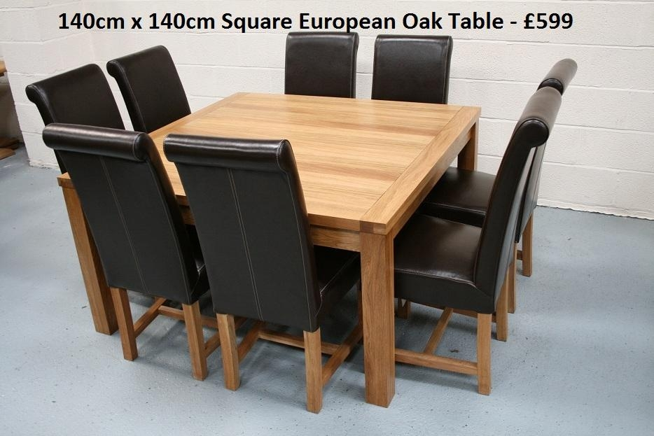 Endearing 8 Seater Dining Table And Oak Dining Table Seats 14 8 10 Inside Most Up To Date Square Oak Dining Tables (View 12 of 20)