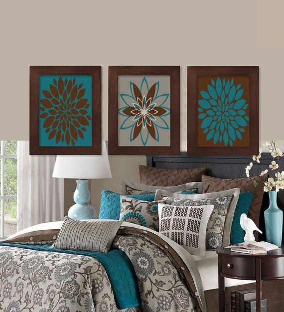 Endearing Brown And Turquoise Bedroom And Best 25 Teal Brown Intended For Brown And Turquoise Wall Art (Image 9 of 20)