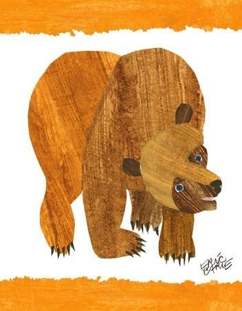 Eric Carle's Brown Bear Cover Canvas Wall Artoopsy Daisy Inside Eric Carle Wall Art (Image 9 of 20)