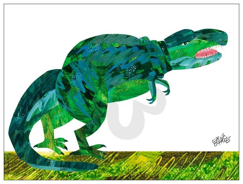 Eric Carle's Dinosaur, Eric Carle Canvas Wall Art | Oopsy Daisy Regarding Eric Carle Wall Art (View 19 of 20)