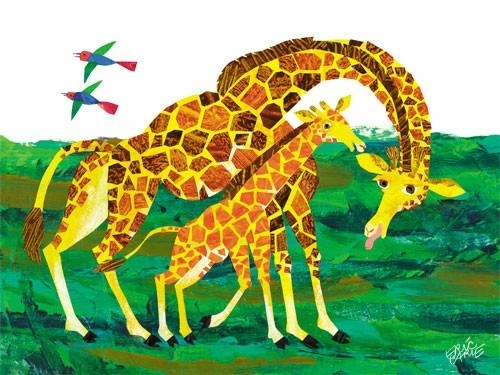 Eric Carle's Giraffe Mother Canvas Wall Artoopsy Daisy With Regard To Eric Carle Wall Art (Image 11 of 20)
