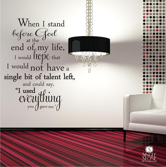 Erma Bombeck Wall Decal Quote Everything You Gave Me Vinyl Within Wall Cling Art (Image 5 of 20)