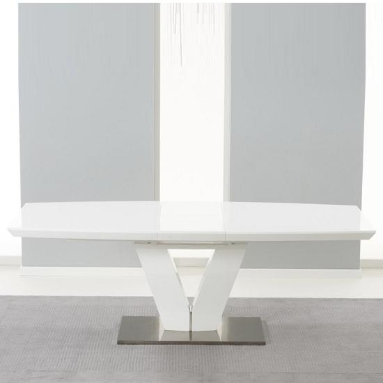 Espero Extendable Dining Table In White Gloss With Metal For Best And Newest High Gloss Extending Dining Tables (View 20 of 20)