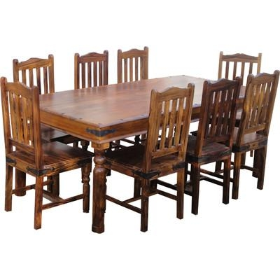 Ethnic Elements Ganga Sheesham Dining Set With 8 Chairs & Reviews Inside Latest Sheesham Dining Tables 8 Chairs (Image 8 of 20)