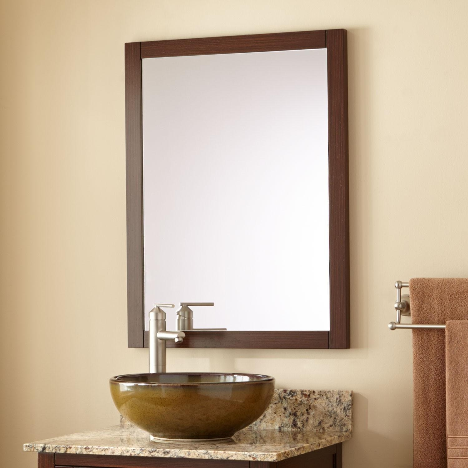 20 best collection of bathroom vanity mirrors mirror ideas for Wenge bathroom mirror