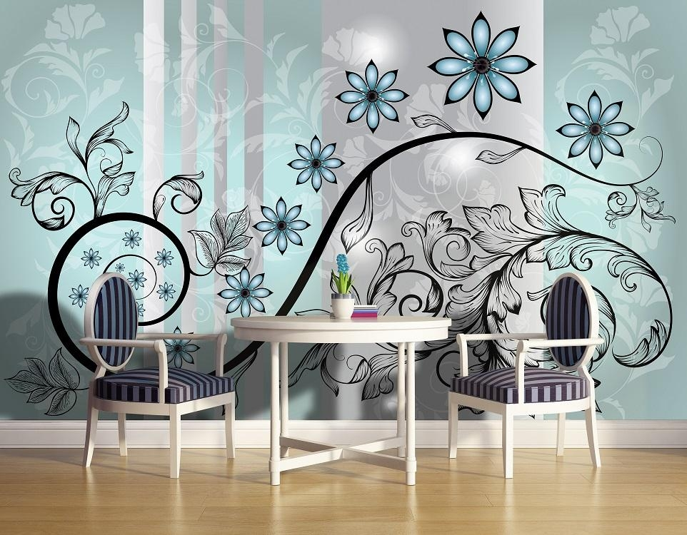 Excellent Abstract Wall Mural – Home Design #928 Within Abstract Art Wall Murals (Image 12 of 20)