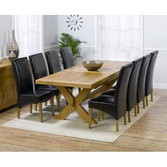 Excellent Solid Oak Dining Table And 8 Chairs 60 In Discount Regarding Most Popular Solid Oak Dining Tables And 8 Chairs (Image 14 of 20)