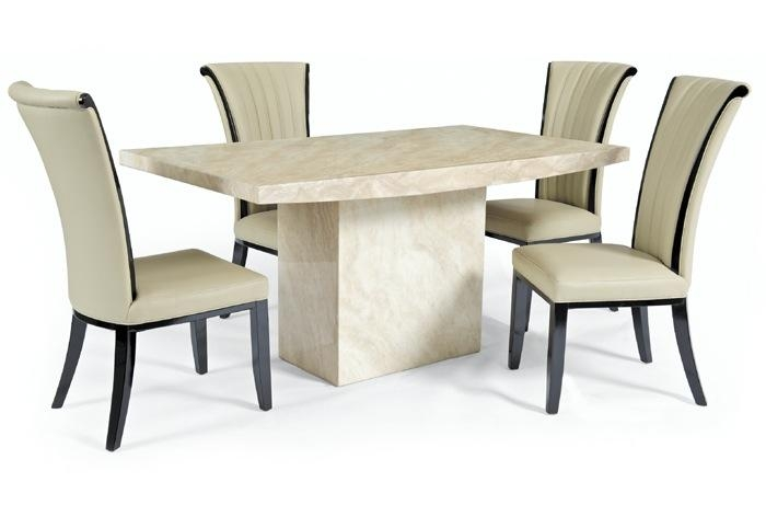 Exciting Marble Effect Dining Table And Chairs 50 With Additional Within Most Popular Marble Effect Dining Tables And Chairs (Photo 10 of 20)
