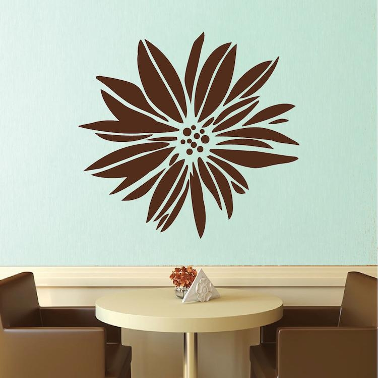 Exotic Flower Wall Decal & Floral Wall Art From Trendy Wall Designs With Regard To Exotic Wall Art (Image 8 of 20)
