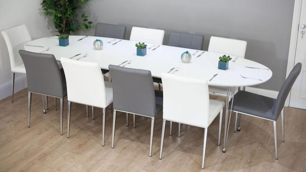 Extendable Dining Table Seats 10 For Really Encourage | Clubnoma For Recent White Oval Extending Dining Tables (Image 9 of 20)