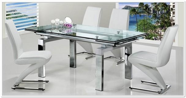 Extendable Glass Dining Table And 6 Chairs | Home Design Ideas With Most Popular Extendable Glass Dining Tables And 6 Chairs (Photo 11 of 20)