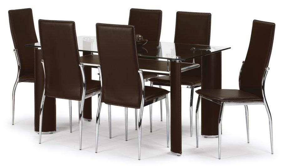 Extending Black Glass Dining Table And 6 Chairs Set I18 About Cool Regarding Most Recent Black Glass Dining Tables 6 Chairs (Image 8 of 20)