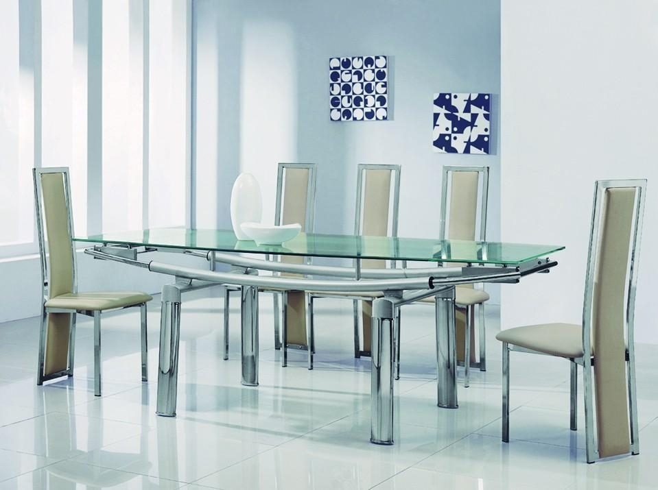 Extending Black Glass Dining Table And 6 Chairs Set I79 For Trend For Most Up To Date Glass Dining Tables And 6 Chairs (Image 12 of 20)