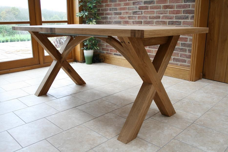 Extending Oak Dining Tables – Living Room Decoration For Newest Oak Extending Dining Sets (Image 5 of 20)