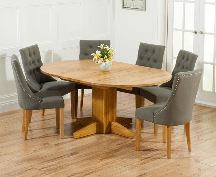 Extending Round Dining Table For 6 – Starrkingschool For Most Recently Released Solid Oak Dining Tables And 6 Chairs (Image 12 of 20)