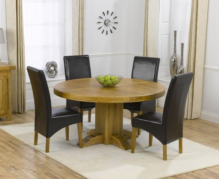 Extending Round Oak Table And Chairs – Starrkingschool With Regard To Recent Round Oak Extendable Dining Tables And Chairs (Image 10 of 20)