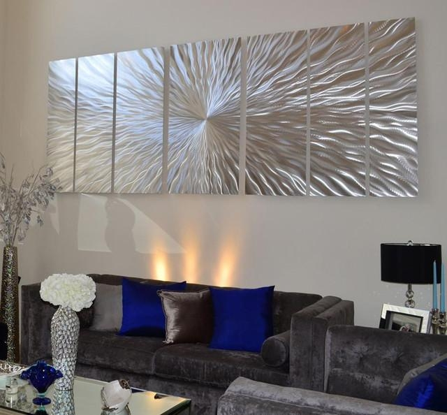 Extra Large Art – Contemporary – Miami Jon Allen Fine Metal Art Within Contemporary Oversized Wall Art (View 5 of 20)