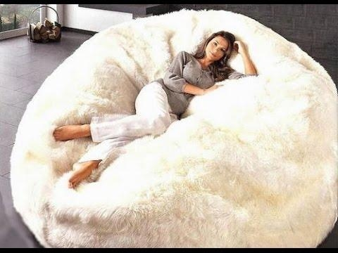 Extra Large Bean Bag Chairs For Adults – Youtube Inside Giant Bean Bag Chairs (View 3 of 20)