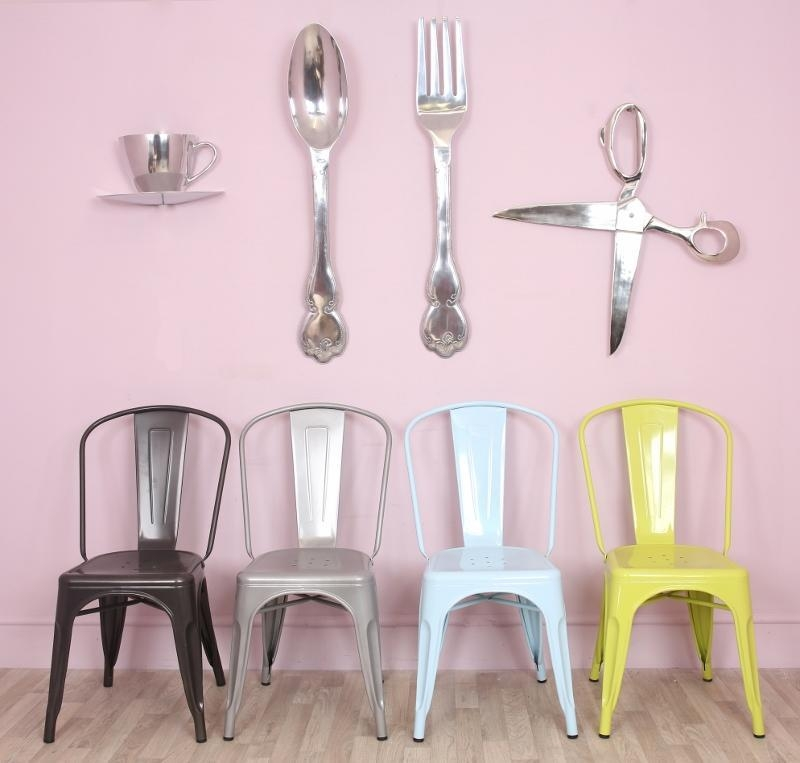 Extra Large Spoon And Fork With Aluminium Material And Kitchen Inside Large Spoon And Fork Wall Art (View 9 of 20)