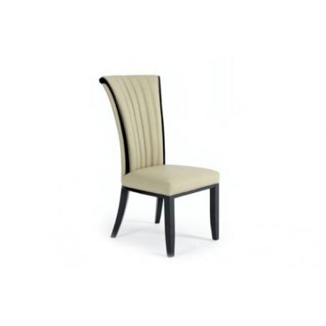 Fabriano Italian Designer Leather Dining Chair – Avreli Beds Within Cream Leather Dining Chairs (Image 11 of 20)